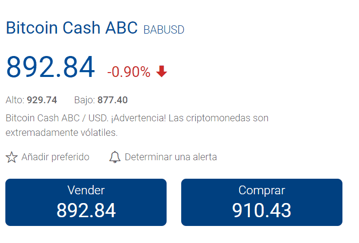 invertir en bitcoin cash