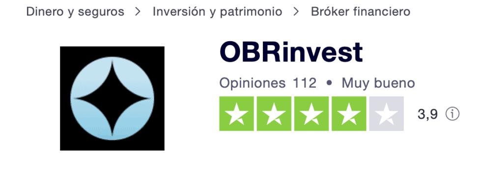 OBRinvest Trustpilot